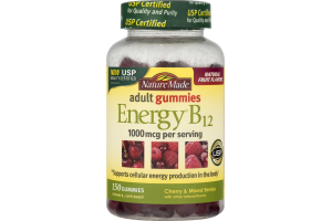 Nature Made Adult Gummies Energy B12 - 150 CT