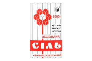 Соль поваренная йодированная Артемсоль к/у 1000г