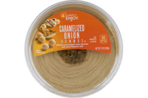 Simply Enjoy Hummus Caramelized Onion