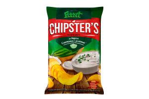 Чипсы картофельные со вкусом сметаны с зеленью Chipster's м/у 70г