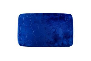 Коврик для ванной комнаты синий 45*70см Оффтоп