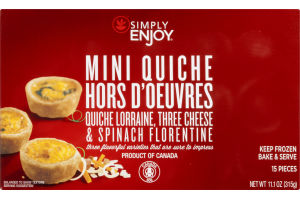 Ahold Simply Enjoy Mini Quiche Hors D'oeuvres - 15 CT