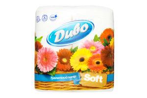 Бумага туалетная 2 сл белая Soft Диво 4шт