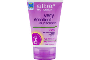 Alba Botanica Very Emollient Sunscreen Kids SPF 45