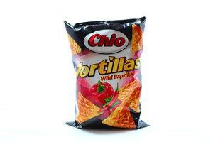 Кукурузные чипсы со вкусом паприки и острого перца Tortillas Chio м/у 125г