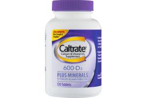 Caltrate Calcium & Vitamin D3 Supplement 600+D3 Plus Minerals Tablets - 120 CT