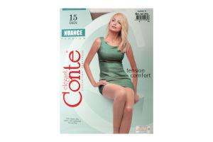 Колготи жіночі Conte Nuance Tension 15den 4-L natural