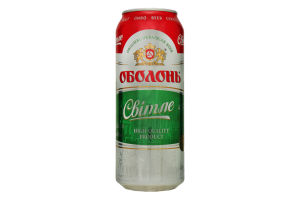 Пиво 0.5л 4.5% светлое Оболонь ж/б