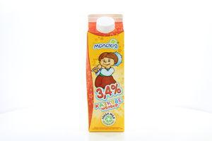Молоко 3.4% пастеризованное Казкове Молокія п/п 930г
