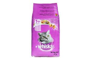 Корм сухой для взрослых кошек от 1года С курицей Whiskas 14кг