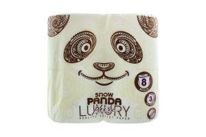 Бумага туалетная 3-х слойная Pure Luxury Сніжна панда 8шт