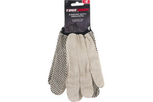 True Grip Canvas with Mini-Dots Gloves Large
