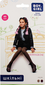 Колготы детские Boy&Girl Herringbone 60den 158-164 marsala