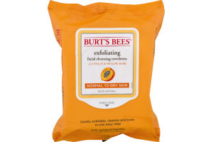 Burt's Bees Exfoliating Facial Cleansing Towelettes with Peach & Willow Bark - 25 CT