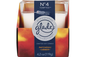 Glade Atmopshere Collection Crafted Soy Candle Patchouli Amber