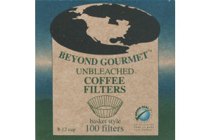 Beyond Gourmet Unbleached Coffee Filters Basket Style - 100 CT