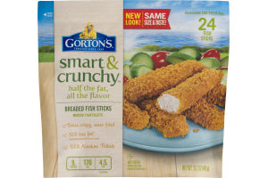 Gorton's Smart & Crunchy Breaded Fish Sticks - 24 CT