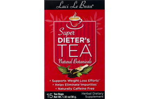 Laci Le Beau Super Dieter's Tea Herbal Dietary Supplement Tea Bags - 15 CT