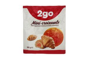 Мини-круассаны с апельсиновой начинкой 2go м/у 180г