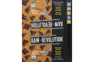Raw Revolution Super Food Bar Chunky Peanut Butter Chocolate - 12 CT