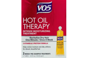 Alberto VO5 Hot Oil Therapy Intense Moisturizing Treatment Weekly Pre-Shampoo Treatments - 2 CT