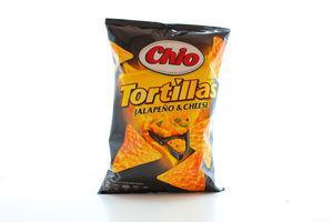 Кукурузные чипсы со вкусом перца халапеньйо и сыром Tortillas Chio м/у 125г