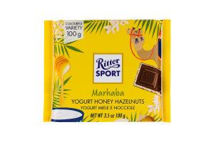 Шоколад молочный Ritter Sport йогурт-мед-фундук