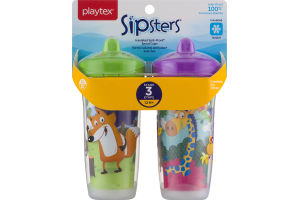 Playtex Sipsters Insulated Spill-Proof Spout Cups Stage 3 - 2 CT