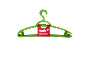 Вешалка для одежды York пластмассовая