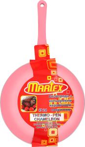 Сковорода з кольоровим керамічним покриттям 24см №26-203-026 Martex 1шт
