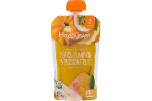HappyBaby CC Organics Pears, Pumpkin & Passion Fruit Organic Baby Food