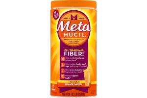 Metamucil Daily Fiber Supplement Orange Smooth