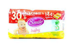 Набор влажных детских салфеток Baby Smile 72шт+30%