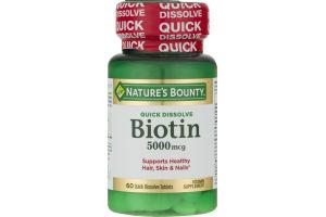 Nature's Bounty Biotin 5000 MCG Quick Dissolve - 60 CT