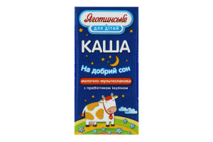 Каша 2% для детей от 6мес Молочно-мультизлаковая Яготинське для дiтей т/п 200г