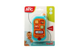 Іграшка для дітей від 3-х місяців Розвиваючий телефон ABC Baby's Bests Simba 1шт