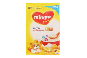 Каша Milupa молочна рисова з абрикосом 5+ 210г
