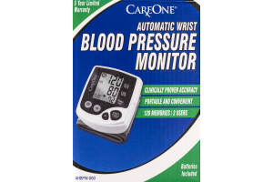 CareOne Automatic Wrist Blood Pressure Monitor