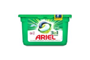 Средство моющее синтетическое жидкое в растворимых капсулах Горный Источник Ariel 12х27г