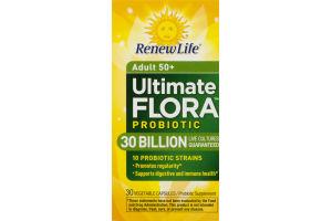 Renew Life Adult 50+ Ultimate Flora Probiotic Vegetable Capsules - 30 CT