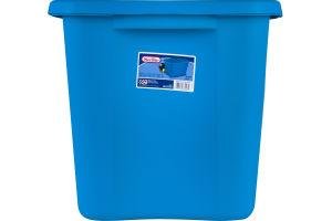 Sterilite Tote 18 Gal. Blue Aquarium