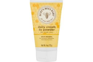 Burt's Bees Baby Bee Cream-to-Powder 2-in-1 Diaper Cream & Baby Powder