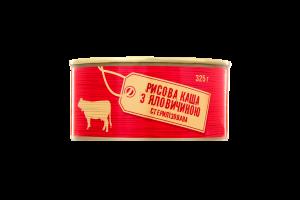 Каша рисовая с говядиной стерилизованная