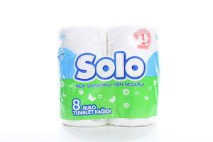 Бумага туалетная 2-х слойная Solo 8шт