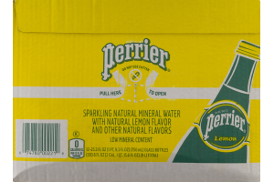 Perrier Sparkling Natural Mineral Water Lemon - 12 PK
