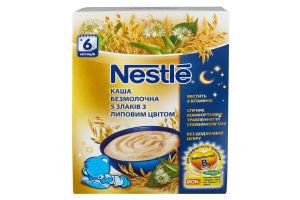 Каша безмолочна Nestle 5 злаків з липовим цвітом 200г