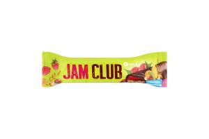 Батончик з мюслево-желейним корпусом зі смаком малини JAM CLUB