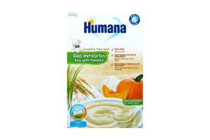 Каша безмолочна рисова з гарбузом для дітей від 6 місяців Humana к/у 200г