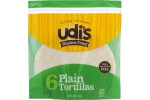 Udi's Gluten Free Tortillas Plain - 6 CT