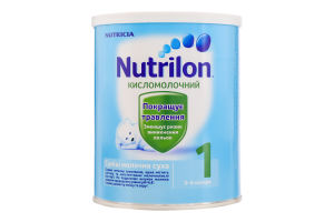 Смесь молочная сухая для детей от 0 до 6мес Кисломолочный 1 Nutrilon ж/б 400г